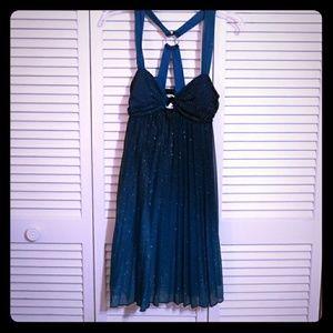 Blue sparkly prom dress